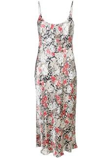 Ganni floral slip dress