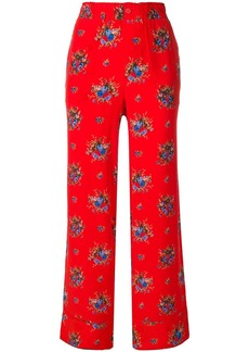 Ganni floral trousers