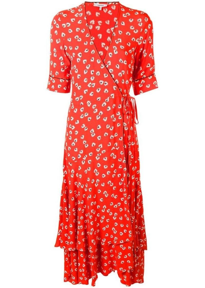 d4d8a649d2 Ganni floral wrap dress | Dresses