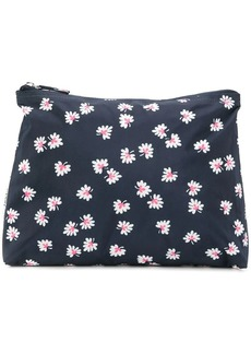 Ganni foliage print makeup bag