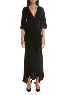 Ganni Velvet Wrap Dress