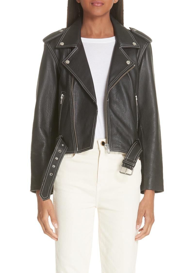 8e918c768b135 Ganni Ganni Angela Leather Jacket | Outerwear