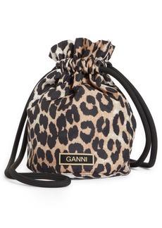 Ganni Animal Print Bucket Bag