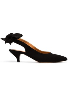 Ganni Black Sabine 45 suede pumps