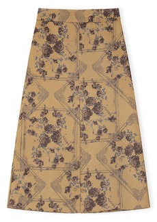 Ganni Brocade Midi Skirt