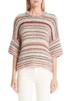 Ganni Mixed Knit Sweater