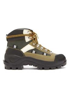 Ganni Bruna lace-up leather boots