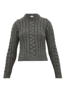 Ganni Cable knit alpaca-blend sweater