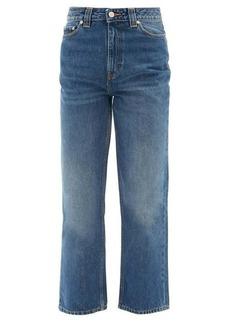 Ganni Cropped organic-cotton straight-leg jeans