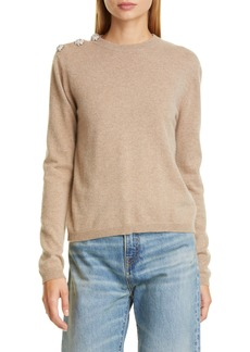 Ganni Crystal Button Cashmere Sweater