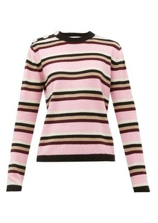 Ganni Crystal-button cashmere sweater