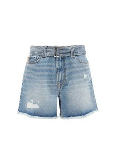Ganni Distressed denim shorts