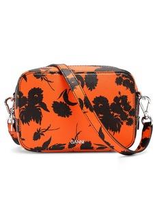 Ganni Exclusive Floral Leather Camera Bag