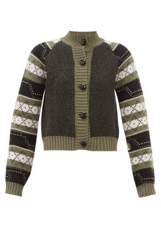 Ganni Fair Isle wool-blend cardigan