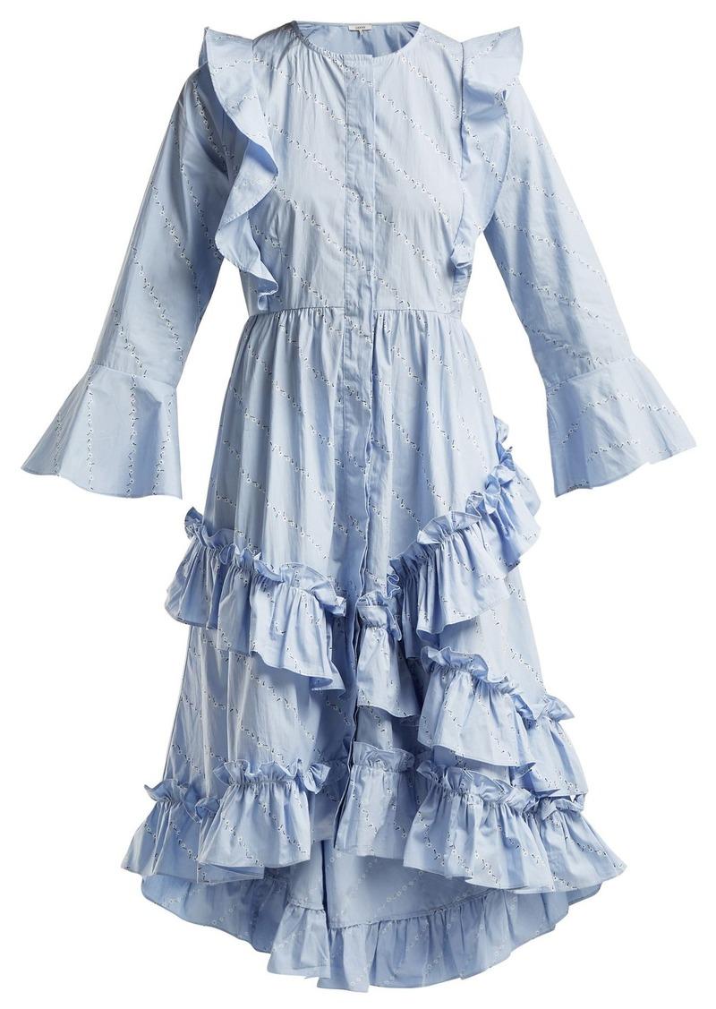 accc6639d6 Ganni Ganni Faulkner flower-print cotton midi dress | Dresses