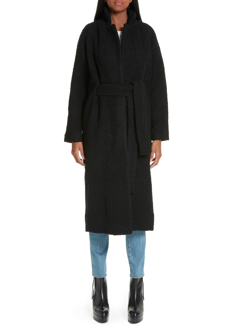 Ganni Fenn Belted Wool Blend Coat