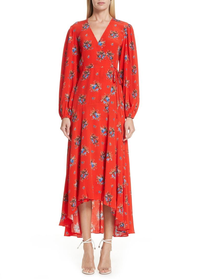 6d9a6b4e79 Ganni Ganni Floral Silk Wrap Dress | Dresses