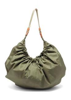 Ganni Gathered recycled-fibre shell shoulder bag