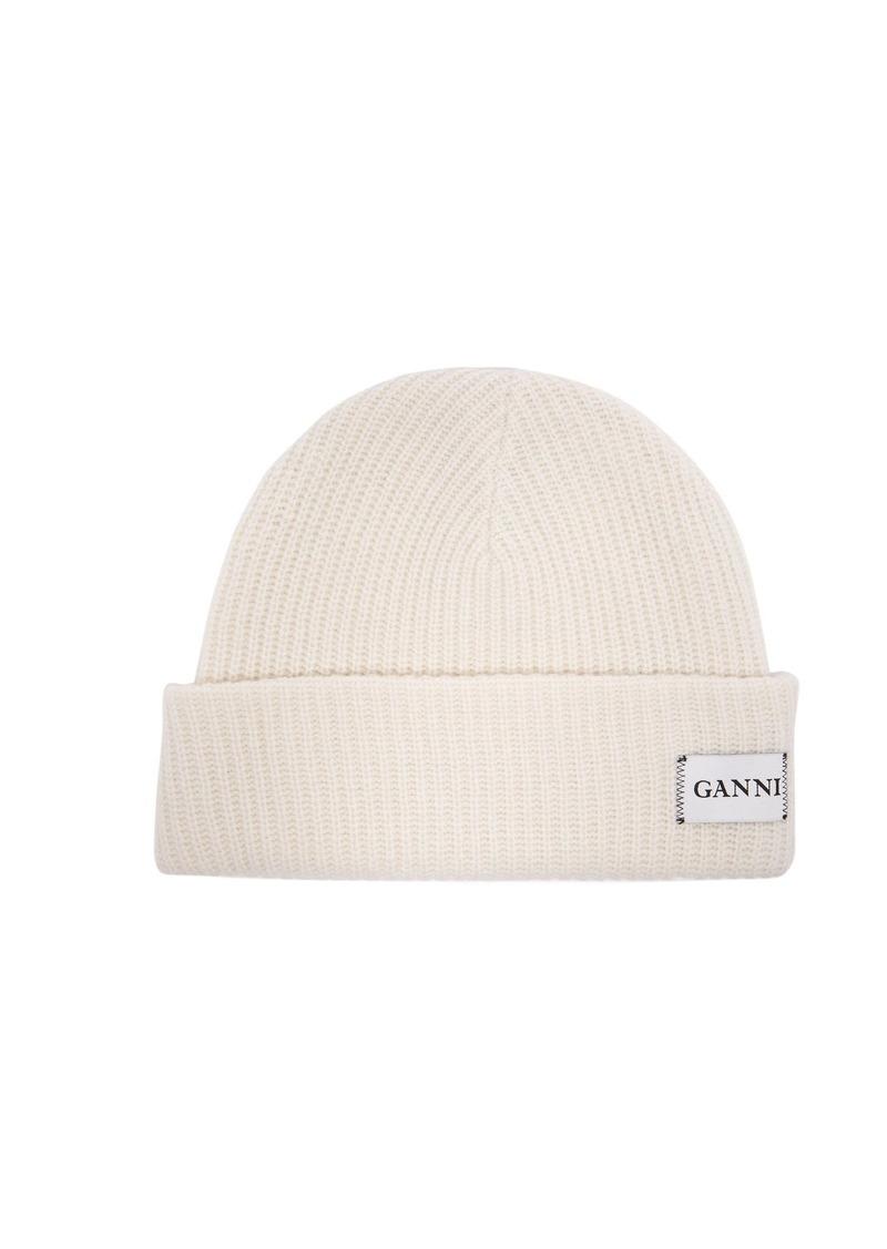 Ganni Ganni Hatley ribbed wool-blend beanie hat  12c0f70f5730