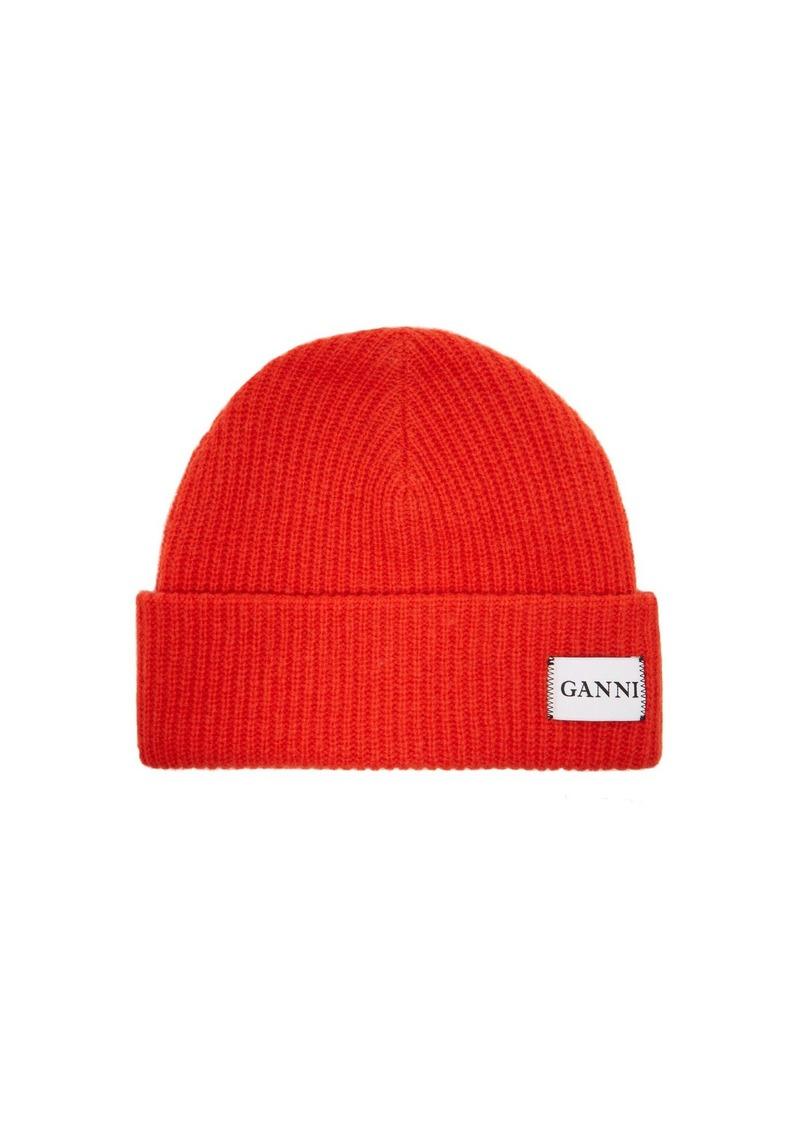 Ganni Ganni Hatley wool-blend beanie hat  682a0acf4389