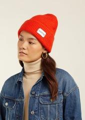 ... Ganni Hatley wool-blend beanie hat ... 8fdca3d62e52