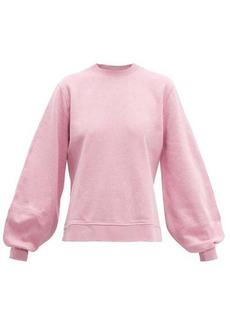 Ganni Isoli balloon-sleeved cotton sweatshirt
