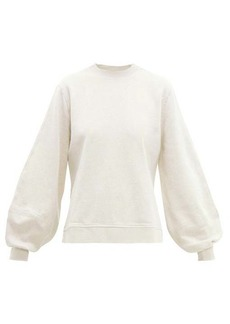 Ganni Isoli balloon-sleeves cotton sweatshirt