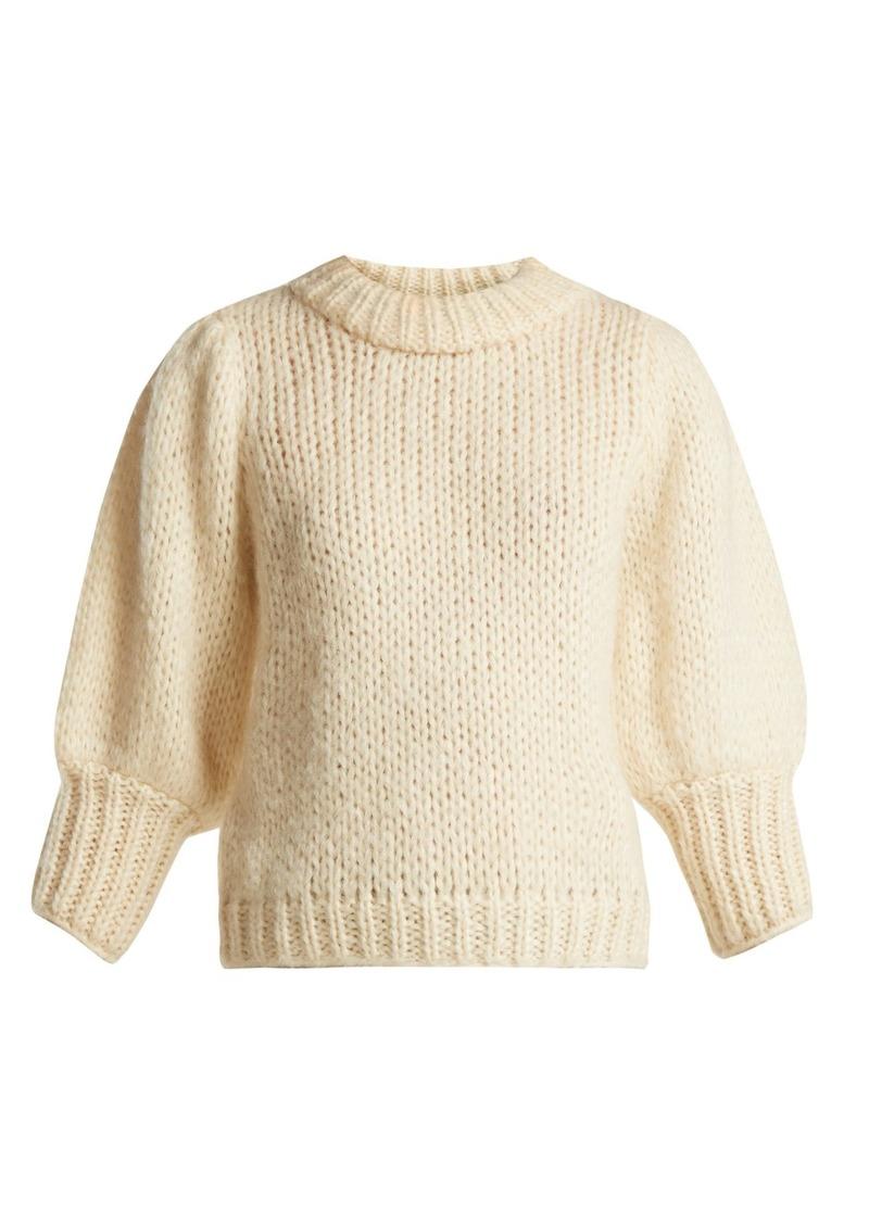 2d0f5b988e9b5 Ganni Ganni Julliard mohair and wool-blend sweater