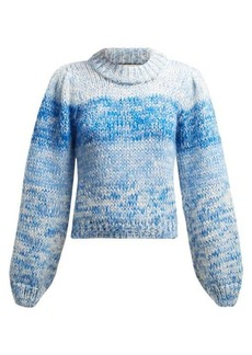 Ganni Julliard mohair chunky knit sweater