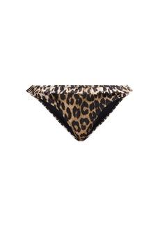 Ganni Leopard-print bikini briefs