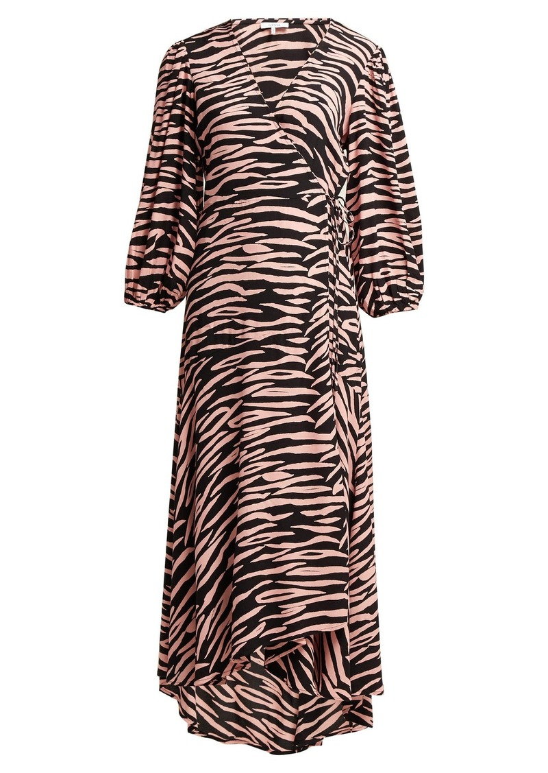 4d857eeee3 Ganni Ganni Lindale tiger-print wrap dress | Dresses