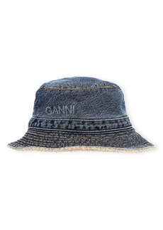 Ganni Logo Organic Cotton Bucket Hat