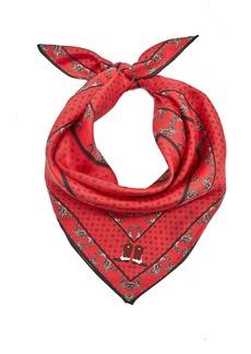 Ganni Paisley-print silk scarf