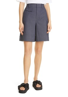 Ganni Pinstripe A-Line Shorts