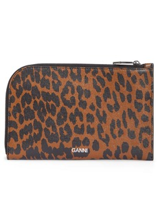 Ganni Print Leather Pouch