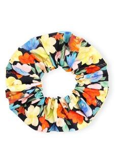 Ganni Print Organic Cotton Poplin Scrunchie