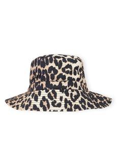 Ganni Print Poplin Bucket Hat