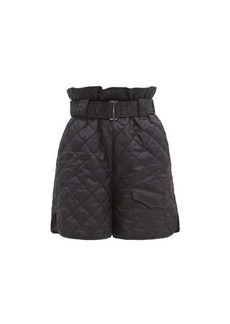 Ganni Quilted recycled-fibre ripstop shorts