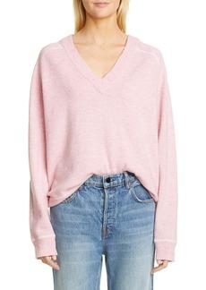 Ganni Relaxed V-Neck Sweater