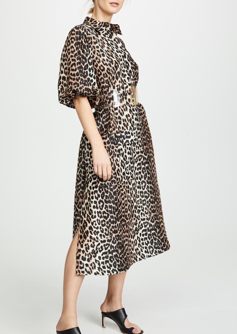 834675667d3726 Ganni GANNI Silk Linen Dress | Dresses