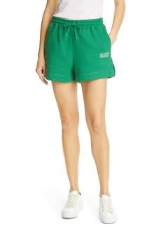 Ganni Software Isoli Organic Cotton Blend Fleece Shorts