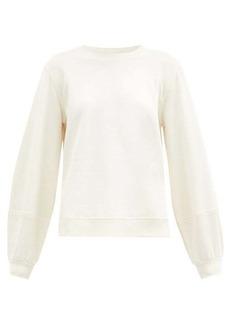 Ganni Software recycled cotton-blend jersey sweatshirt