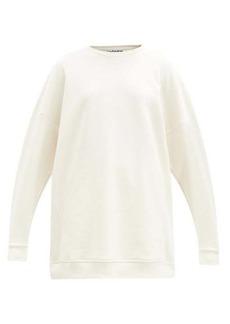 Ganni Software recycled cotton-blend sweatshirt