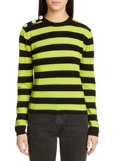 Ganni Stripe Cashmere Sweater