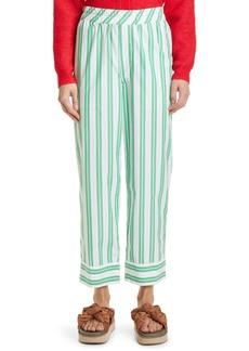 Ganni Stripe Organic Cotton Pants