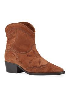 Ganni Texas Western Low Booties