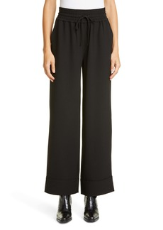 Ganni Wide Leg Heavy Crepe Trousers