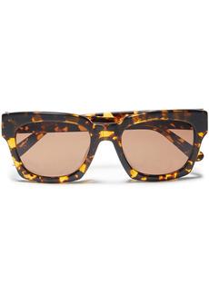 Ganni Woman Alice Square-frame Tortoiseshell Acetate Sunglasses Saffron