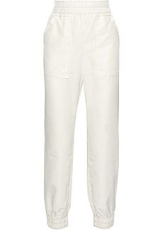 Ganni Woman Comstock Shell Track Pants White
