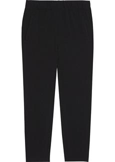 Ganni Woman Crepe Tapered Pants Black